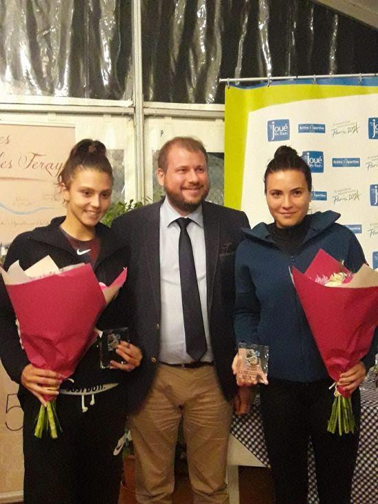 ITF 25k Joue-les-Tours: Cristian / Ruse, vicecampioane la dublu. Gabriela a fost semifinalistă la simplu.